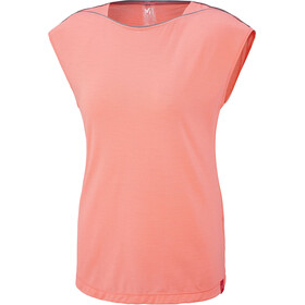Millet Cloud Peak Short Sleeve Shirt Women peach